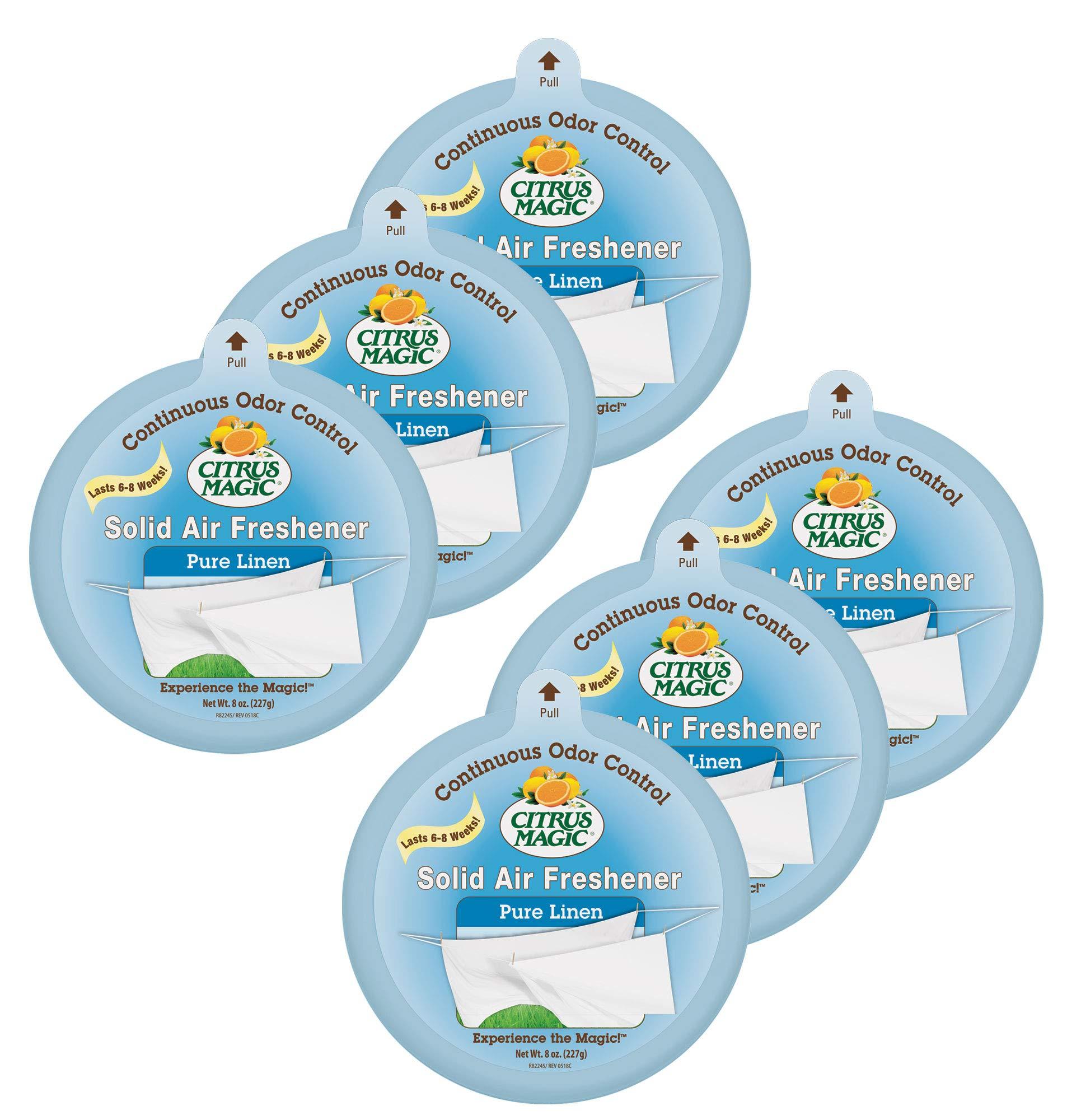Citrus Magic Solid Air Freshener Pure Linen, Pack of 6, 8-Ounces by Citrus Magic