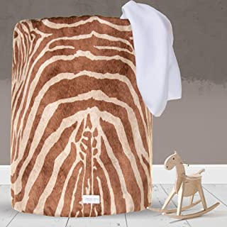 product image for Glenna Jean Large Laundry Basket, Collapsible, Storage Bin, Nursery for Baby Boys & Girls,ZebraAnimal Print for Boys & Girls,Brown/White
