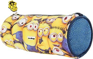 Despicable Me - Estuche para bolígrafos y pinturas oficial Modelo barril diseño Minions para niños (21 x 8cm/Amarillo/Azul): Amazon.es: Ropa y accesorios