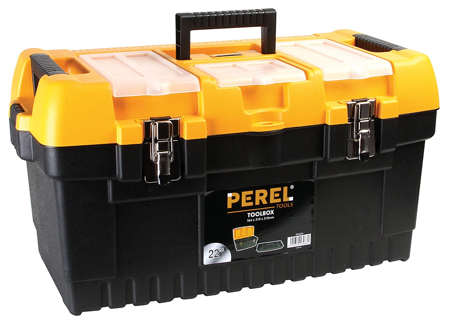 Perel OM22M 22-Inch Toolbox with Metal Latches