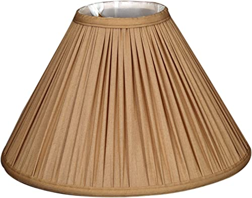 Royal Designs Coolie Empire Gather Pleat Basic Lamp Shade, Antique Gold, 7 x 20 x 12.5