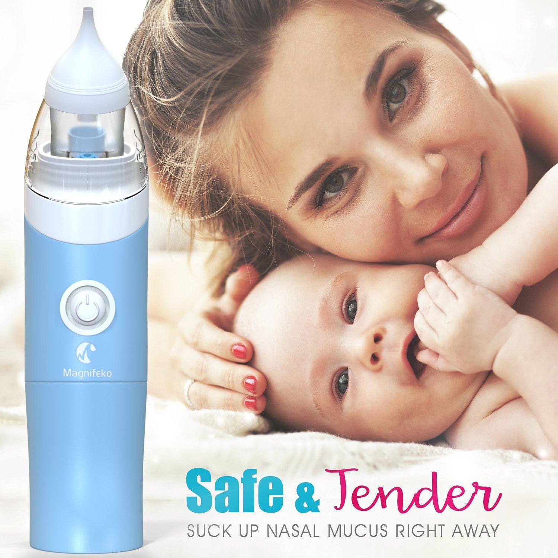 Bebé aspirador nasal Nariz con ventosa mocos succión limpiador por magnifeko con termómetro digital: Amazon.es: Bebé