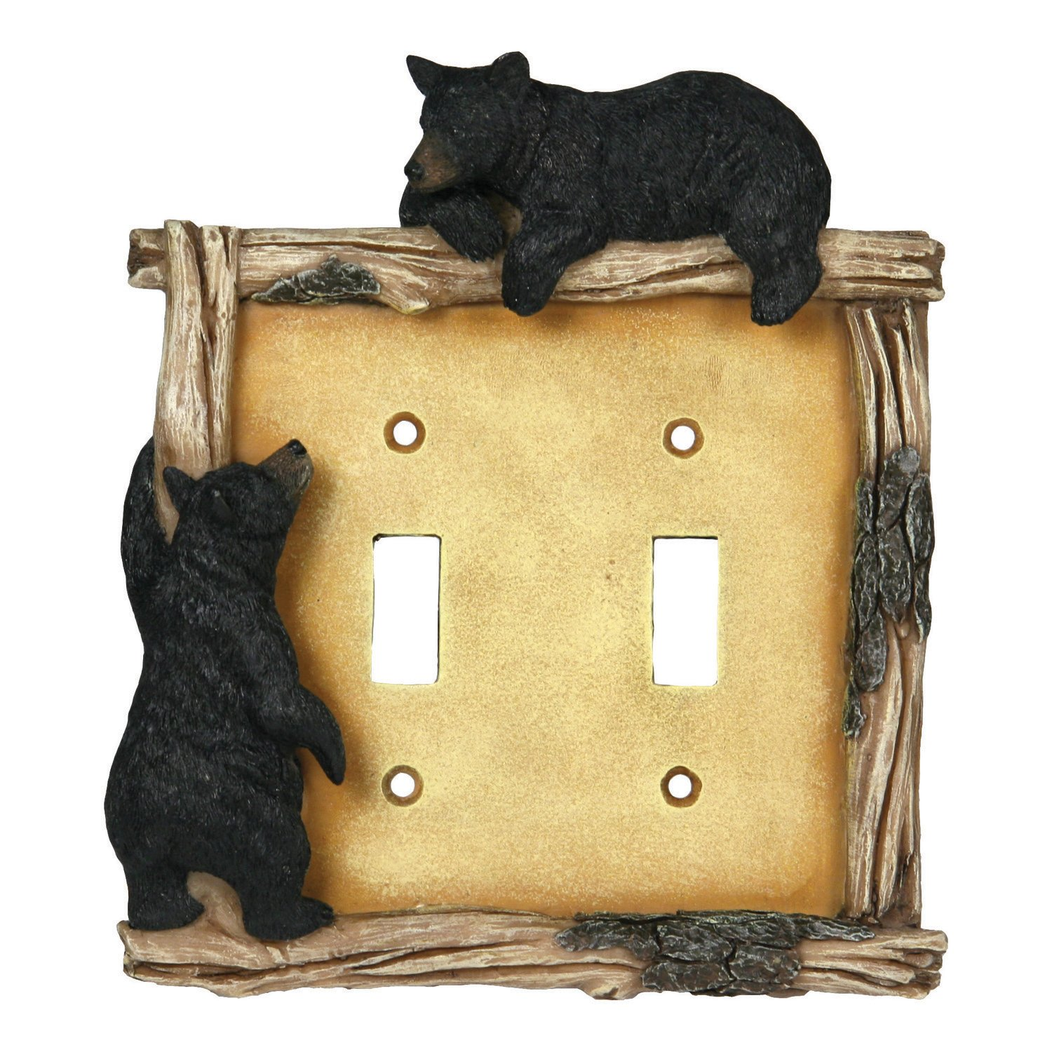 River's Edge Products 618 Bear Double Switch Electrical Cover Plate