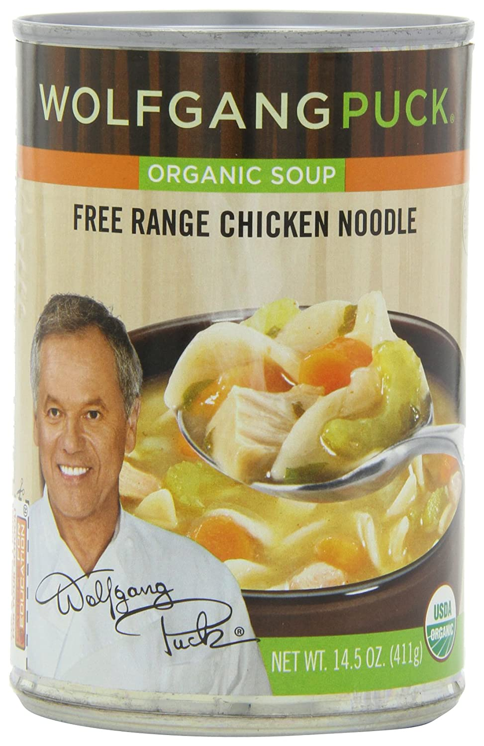 Amazon Com Wolfgang Puck Organic Chicken With Egg Noodles Soup 14 5 Ounce Cans Pack Of 12 Grocery Gourmet Food
