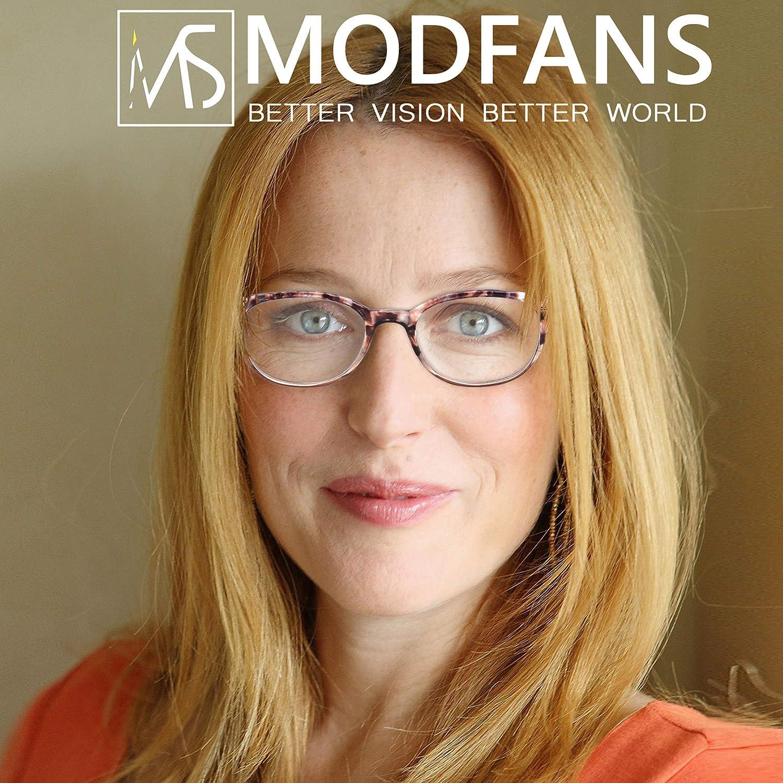 MODFANS Confezione da 3 occhiali da lettura 4.0 per donna Cerniera a molla leggera lente trasparente