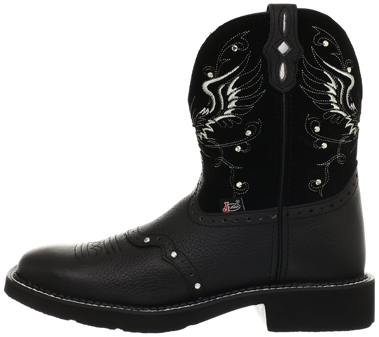 Justin Boots Women's Gypsy Collection Western Boot B005ADAPCU 8.5 B(M) US|Black Deercow/Black Suede