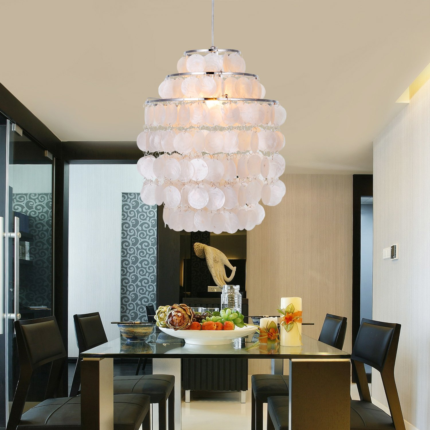 LightInTheBox Modern White Shell Pendant Chandelier Mini Style