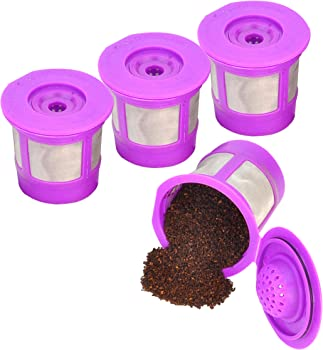 Reusable K Cups for Keurig 2.0 & 1.0 4PACK Coffee Makers. Universal Refillable KCups