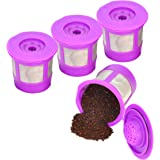 Reusable K Cups for Keurig 2.0 & 1.0 4PACK Coffee Makers. Universal Refillable KCups, Keurig filter, Reusable kcup, k…