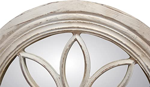 Hickory Manor House Petal Circle Mirror, Old World White