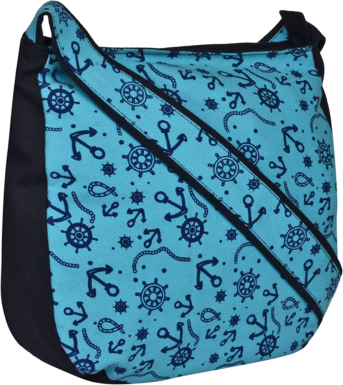 Anekaant Florid Canvas Hobo Bag