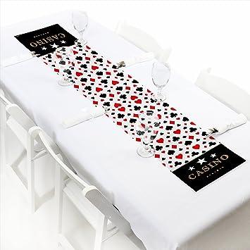 "Las Vegas - Petite Casino Party Paper Table Runner - 12"" ..."
