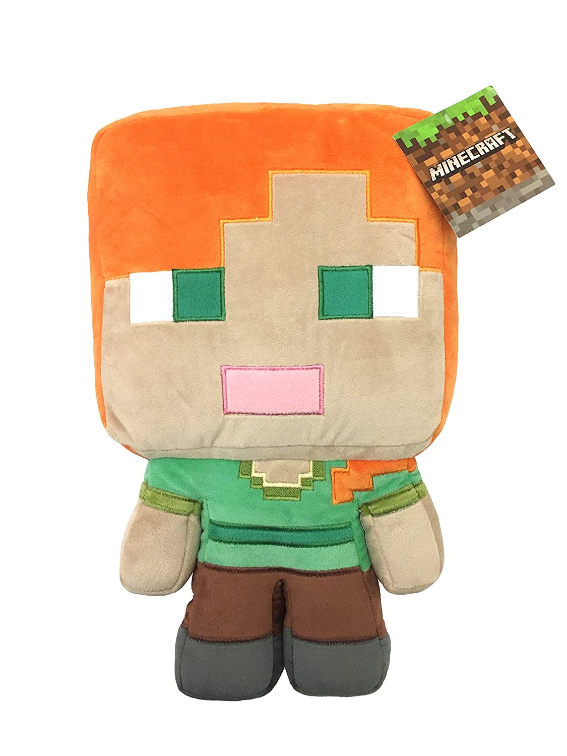 Jay Franco Mojang Minecraft Plush Stuffed Alex Pillow Buddy - Kids Super Soft Polyester Microfiber, 16 inch (Official Product)