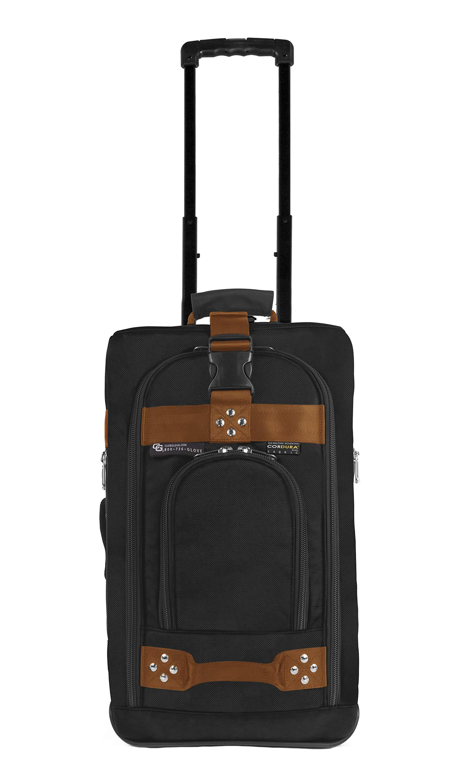 Club Glove Carry On Bag III Travel Luggage (Black/Copper)