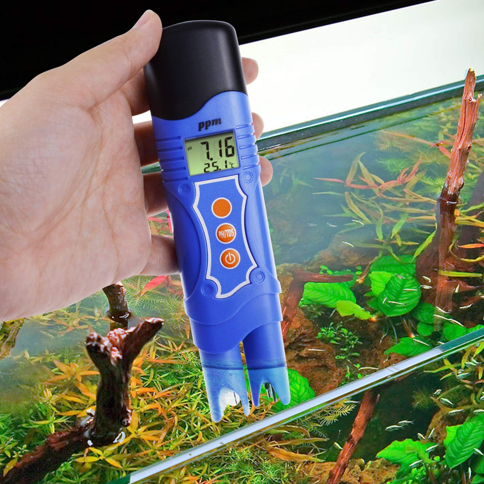 Gain Express 3-in-1 pH/TDS/Temperature Meter Combo Water Quality Tester Digital Pen-Type with ATC 0.00~14.00pH 0~1999mg/L(ppm) for Laboratories, Hydroponics, Aquariums, Pool, Spa by Gain Express (Image #2)