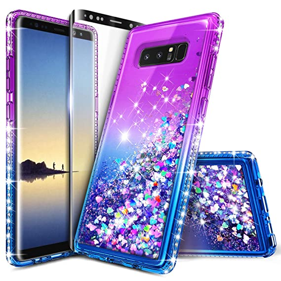 60617c55b950 Galaxy Note 8 Case with Screen Protector (Full Coverage) for Girls Women  Kids,