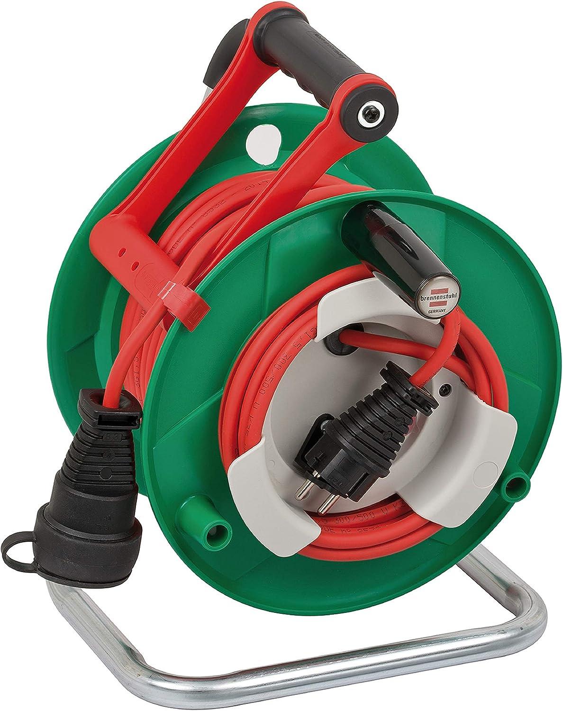 Brennenstuhl 25m AT-N05V3V3-F 3G1,5 prolunghe e multiple 1 presa(e) AC Nero, verde, Bianco