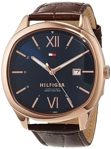 Tommy Hilfiger Unisex Analog Quarz Uhr mit Leder Armband 1710366