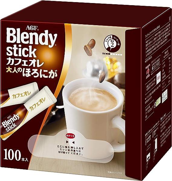 AGFブレンディスティックカフェオレ大人のほろにが100本【スティックコーヒー】