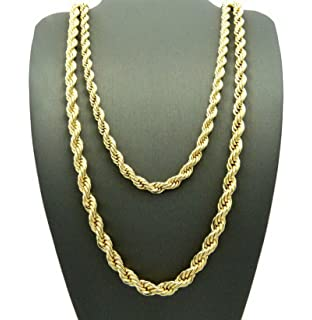 Hip Hop 80 Unisex Rappers 8mm 10mm Various Size Hollow Rope Chain