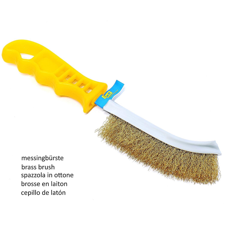 S&R Juego de cepillos metálicos de 3 piezas: 1 Cepillo de Acero Inox, 1 Cepillo de Latón, 1 Cepillo de Acero. Cepillos Profesionales: Amazon.es: Bricolaje y ...