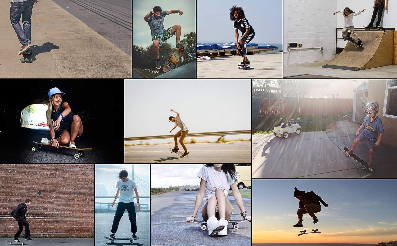 30 meteor Fancy Board Vintage Mini Cruiser Complete Bois v/éritable /Érable Canadien Skateboard Ridge Mini Skate Planche a roulettes r/étro 76 cm