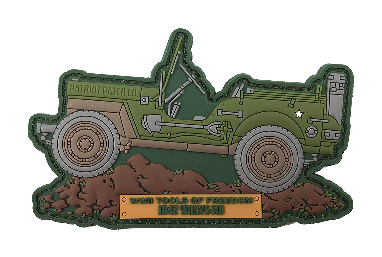 Patriot Patch Co - WWII 歴史的な車両パッチ  Willys MB B07KNDTQ7M