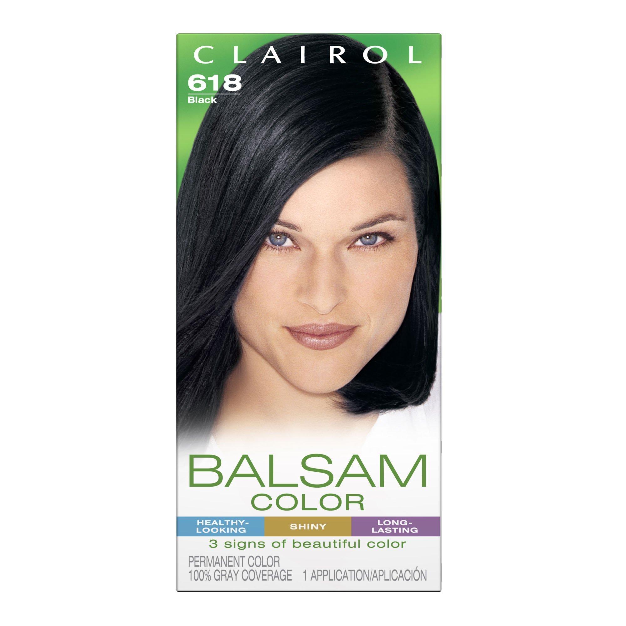 Clairol Balsam Color Black 618 1 ea