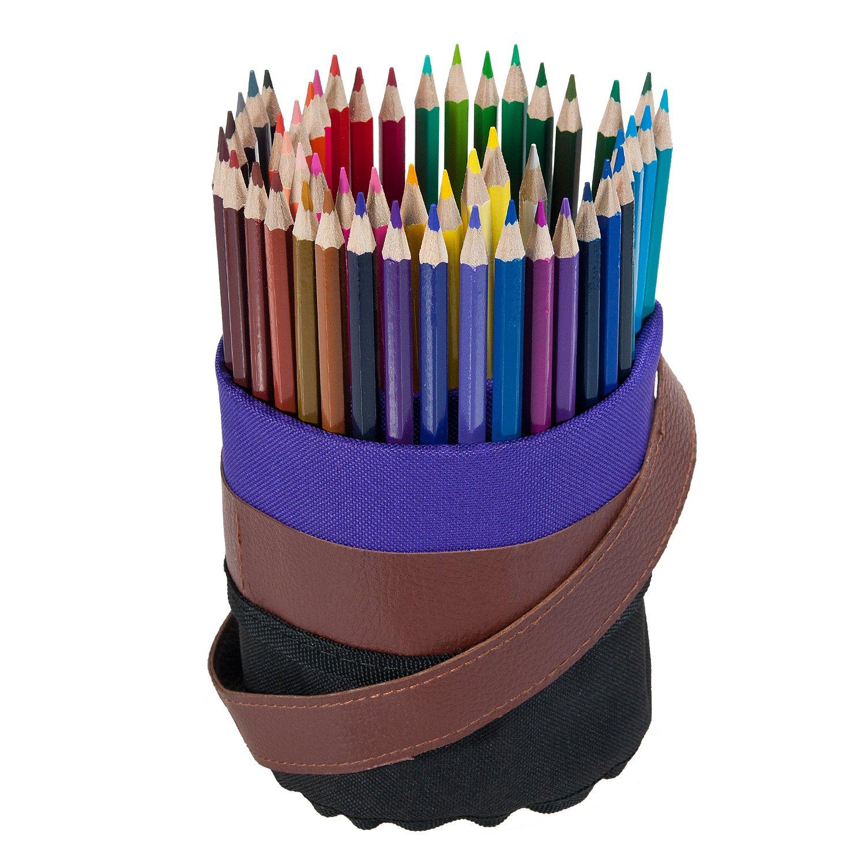 Matite colorate a 50 colori Lysport Matite colorate assortiti Premium Essentials Everyday con borsa portatile in lattice e astucci per la scuola / scrittura LYCHEE LIMITED BL-05-071-002