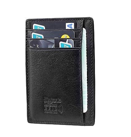 flintronic ® Tarjetas de Crédito Slim Moda RFID Bloqueo Monedero de Cuero, Mini Billetera para Cartera ID,Tarjetero Crédito Licencia de Conducir ...