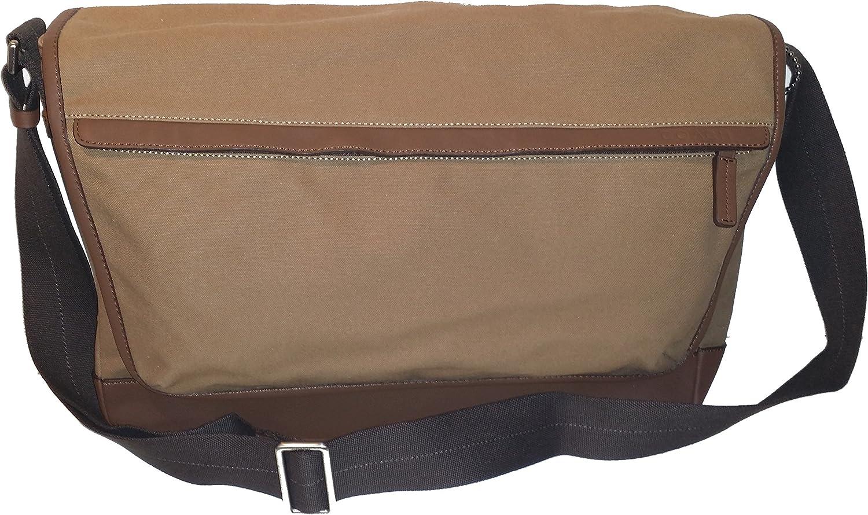 Coach Men Camden Canvas Business Laptop School Messenger Shoulder Bag Khaki 70829