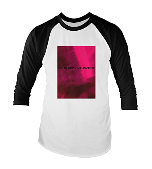 My Bloody Valentine Unisex Baseball T Shirt All Sizes Colours (S, White/