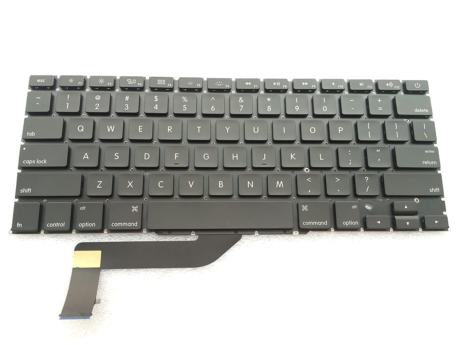 """Amazon.com: New Laptop Replacement Keyboard for Apple MacBook Pro A1398 15  """"series Black US Layout Black A1398: Computers & Accessories"""