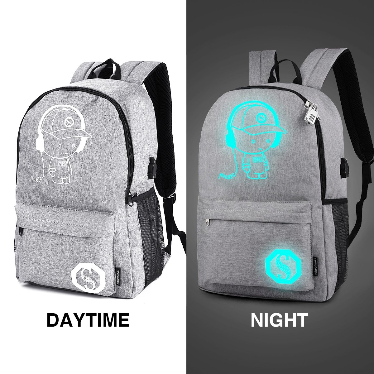1ad36c57f2 Luminous Backpack with USB