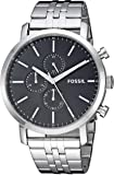 Fossil Men's Luther Quartz Watch with Stainless-Steel Strap, Silver, 21.75 (Model: BQ2328IE