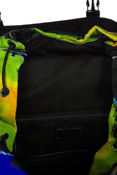 ad9c9420a96027 Prada men's Nylon rucksack backpack travel radar patch black: Amazon.co.uk:  Shoes & Bags