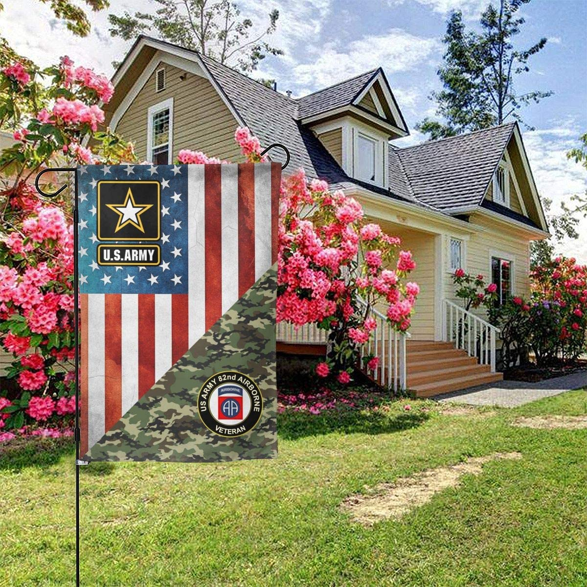 """United States Army 82nd Airborne Garden Flag Welcome Banner for Patio Lawn Party Yard Home Outdoor Decor, On Both Sides, 12.5""""x18"""" / 28""""x40"""""""
