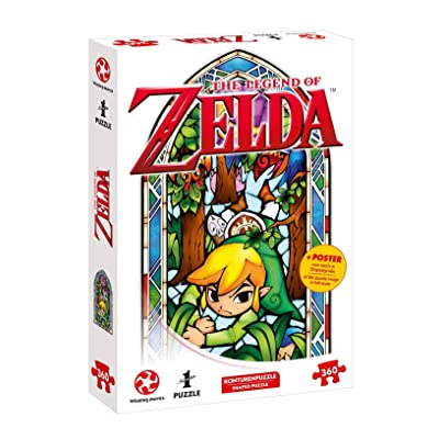 Auf Ins Puzzle Adventures with The Legend of Zelda – The Wind Waker Boomerang (Design in Original Size 360 Pieces & Poster): Toys & Games