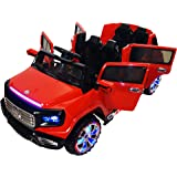 Two-Seater 4-Door Premium Ride On Electric Toy Car For Kids - 12V Battery Powered - LED Lights - MP3 - RC Parental Remote Controller - Suitable For Boys and Girls -  Red