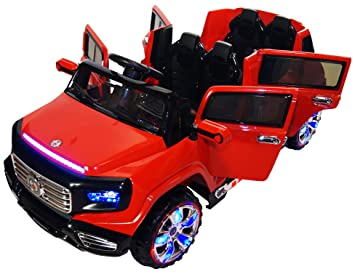 Amazon Com Two Seater Door Premium Ride On Electric Toy Car For