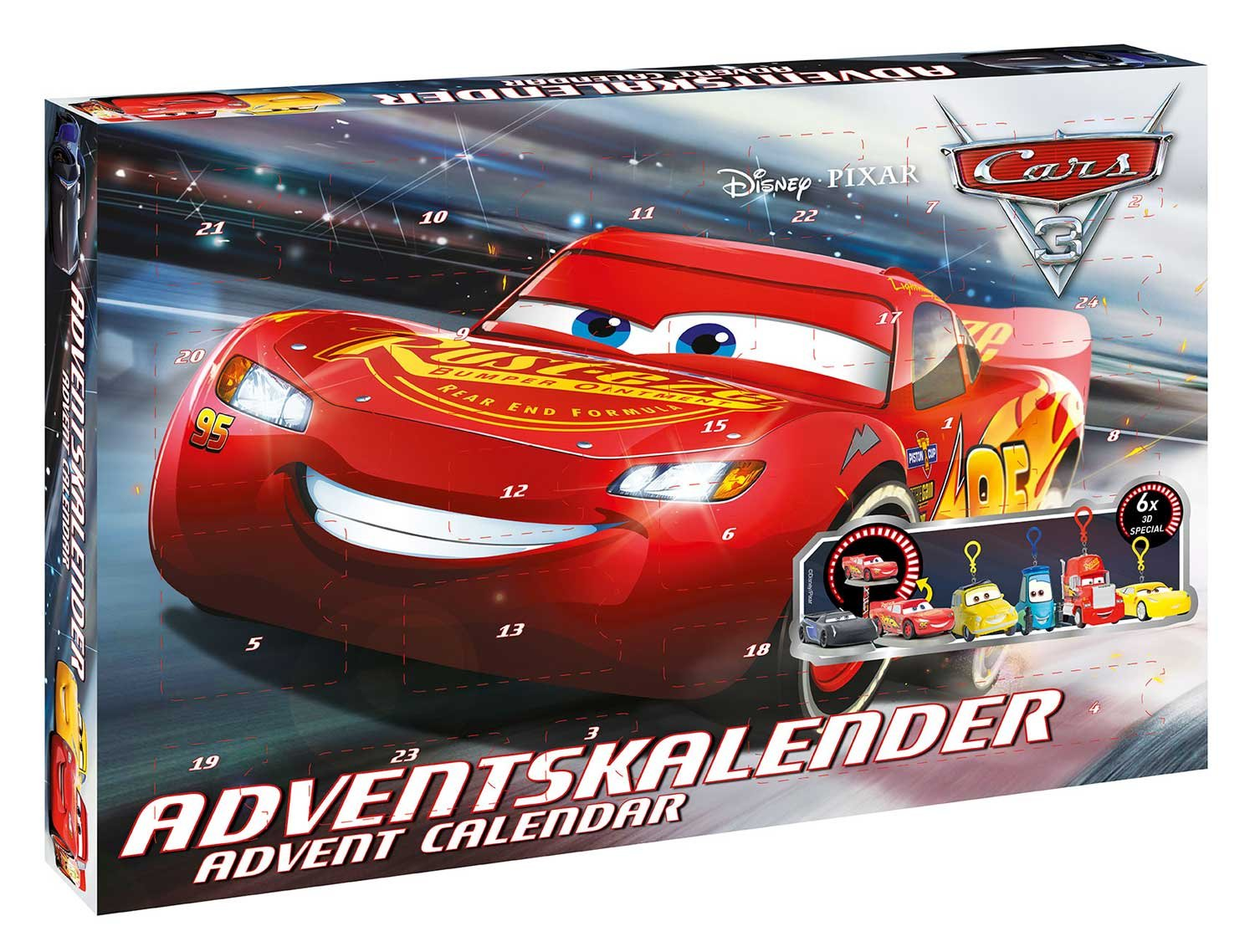 Craze 57361 - Adventskalender Disney Pixar Cars 3 Craze_57361