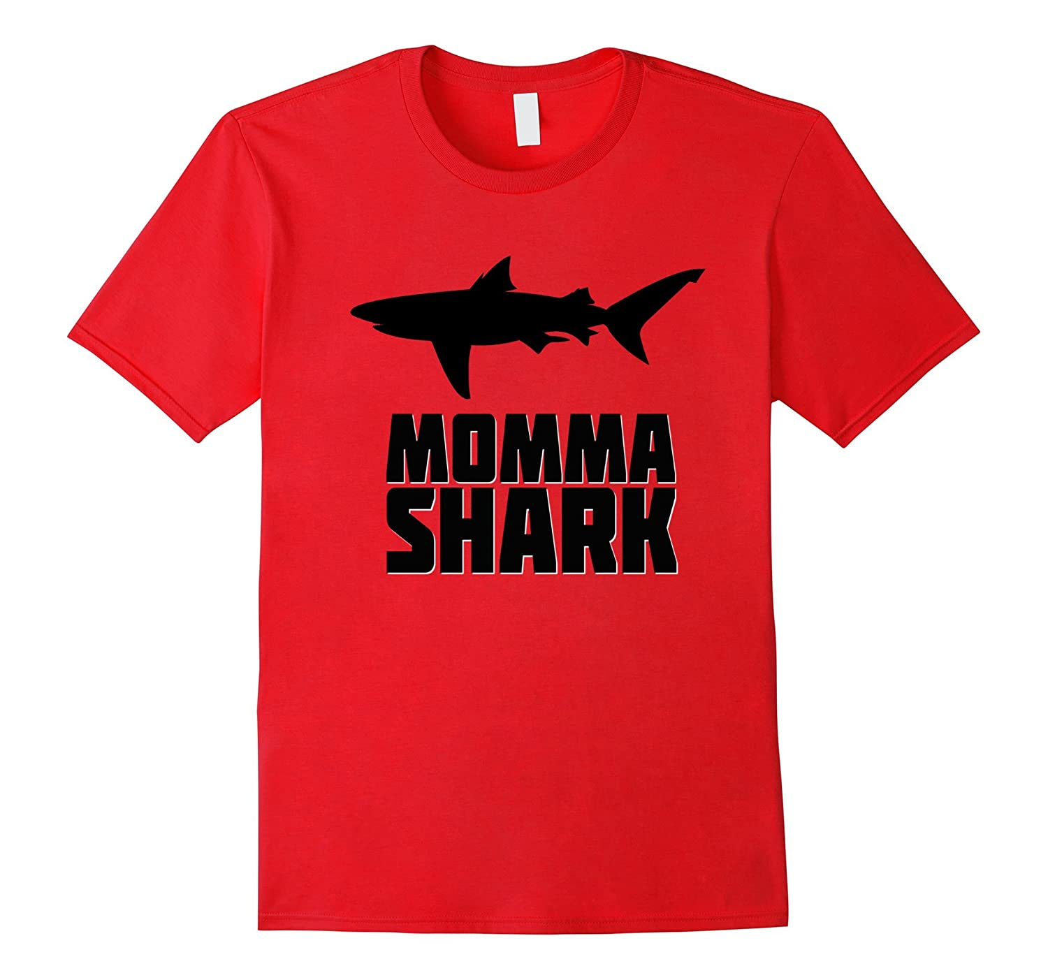 Momma Shark Shirt Matching Family Tribe Mother Mom Mommy-TD