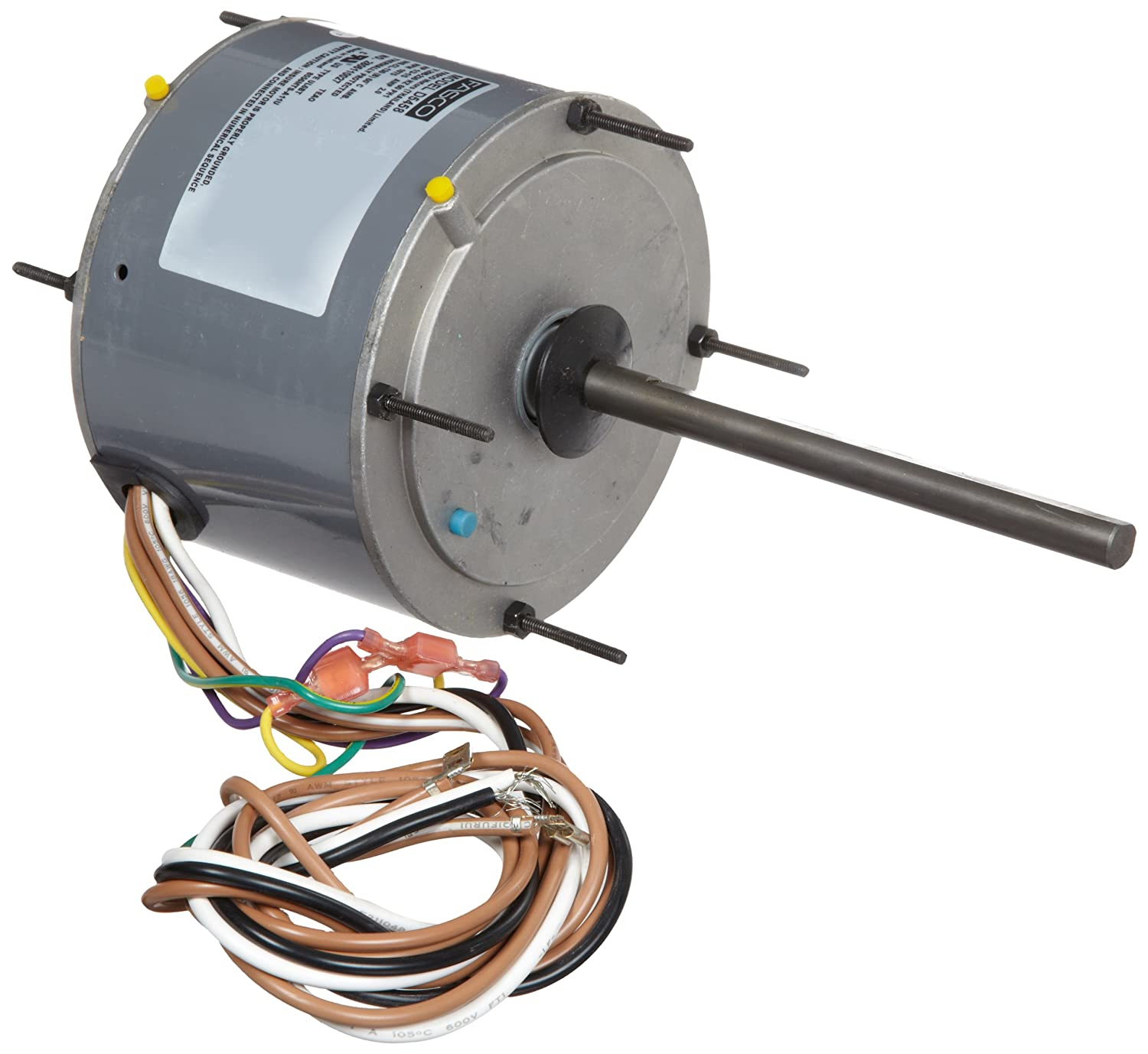Fasco D5458 5.6 Frame Open Ventilated Permanent Split Capacitor Condenser Fan Motor with Sleeve Bearing, 1/5, 1/4, 1/3 HP, 1075rpm, 208-230V, 60Hz, 2 amps by Fasco B0099BCGZS