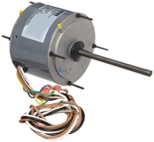 """Fasco D5458 5.6"""" Frame Open Ventilated Permanent Split Capacitor Condenser Fan Motor with Sleeve Bearing, 1/5, 1/4, 1/3 HP, 1075rpm, 208-230V, 60Hz, 2 amps"""