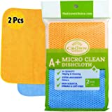 Best Lint Free Microfiber Cleaning Cloth - Washable, Reusable, Strong Cleaner Cloths - Non-Scratch, Long Lasting, Lint-Free M