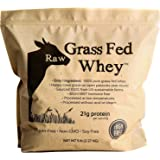 Raw Grass Fed Whey 5LB - Happy Healthy Cows, COLD PROCESSED Undenatured 100% Grass Fed Whey Protein Powder, GMO-Free (5 LB)