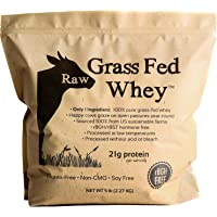 Raw Grass Fed Whey 5LB - Happy Healthy Cows, COLD PROCESSED Undenatured 100% Grass...