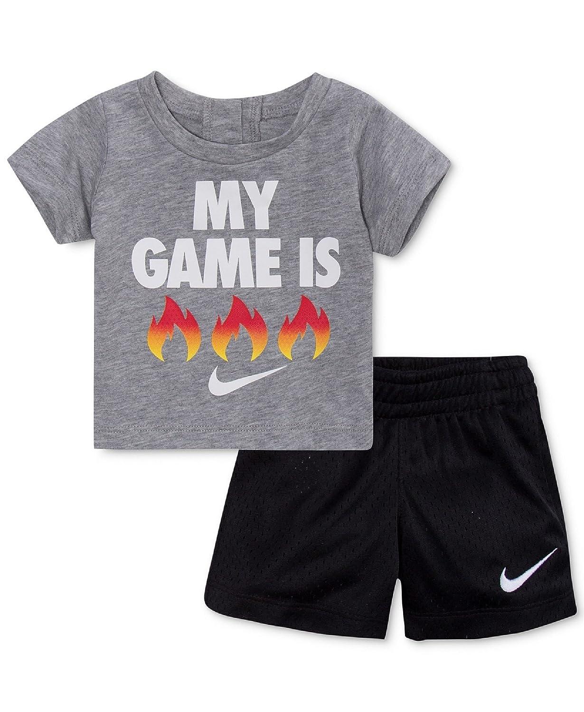 Amazon.com  NIKE 2-Pc. Fire-Print T-Shirt   Shorts Set 6f64bbe8c