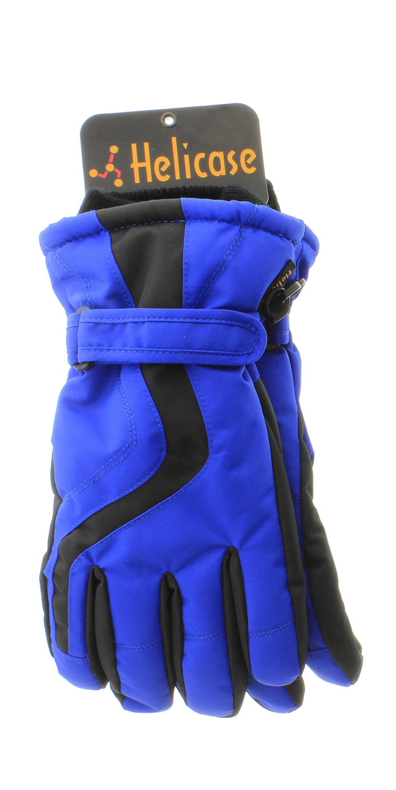 Helicase Waterproof Wristband Cinch Winter Gloves Blue L