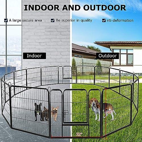 Best Modular Dog Kennel Run: BestPet Indoor Outdoor Playpen Exercise